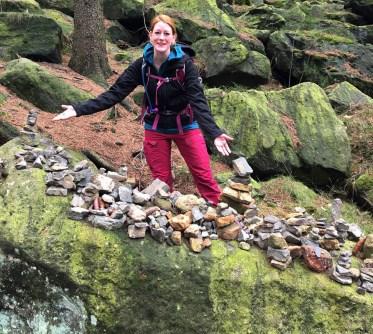 Gipfelstürmer Steinverkäuferin