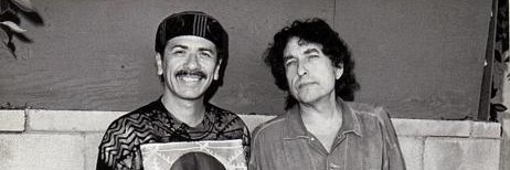 Carlos Santana cleans Bob Dylan's clock in the clash of the Yankee rock titans