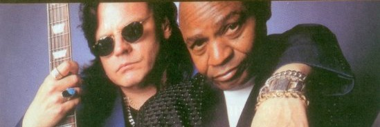 Smokin' Joe Kubek thanks Jimmie Vaughan for turning him on to barbecued bologna