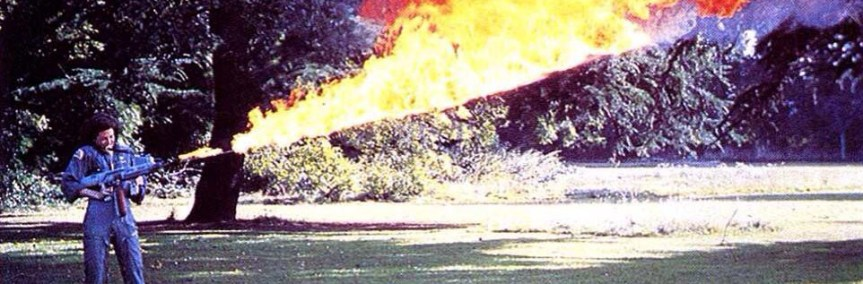 Don't mess with Ripley when she's got the Alien flamethrower in the backyard