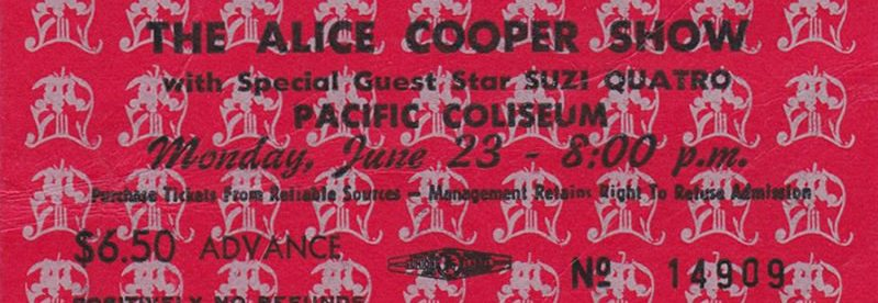 Alice Cooper fan offers eye-witness account of the Coop's famous rib-busting wipeout in Vancouver