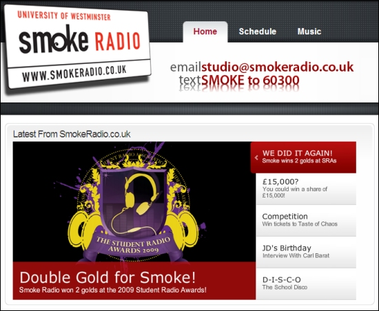 Smoke radio website
