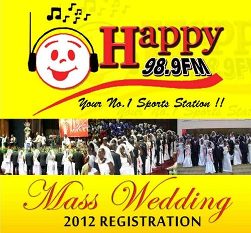 Happy FM mass wedding flyer