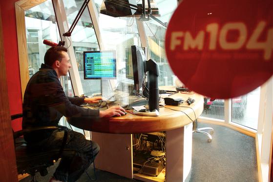 FM104 - inside studio