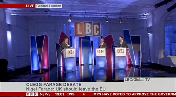 LBC debate on BBC News channel