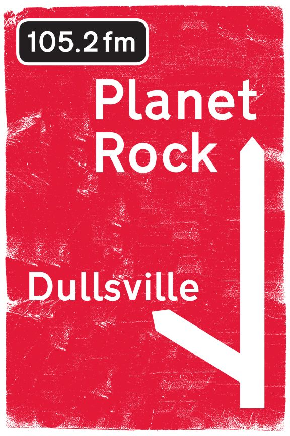 Planet Rock - roadsign style billboard