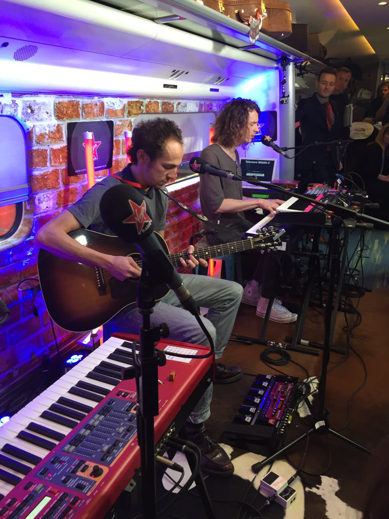 Mystery Jets play live on board
