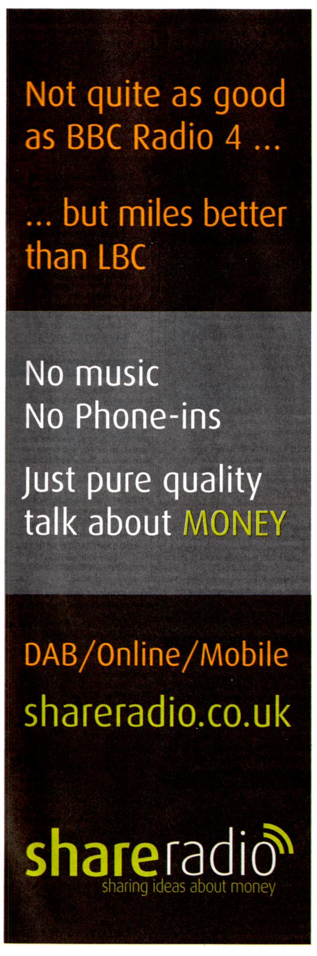 Share Radio comparative ad