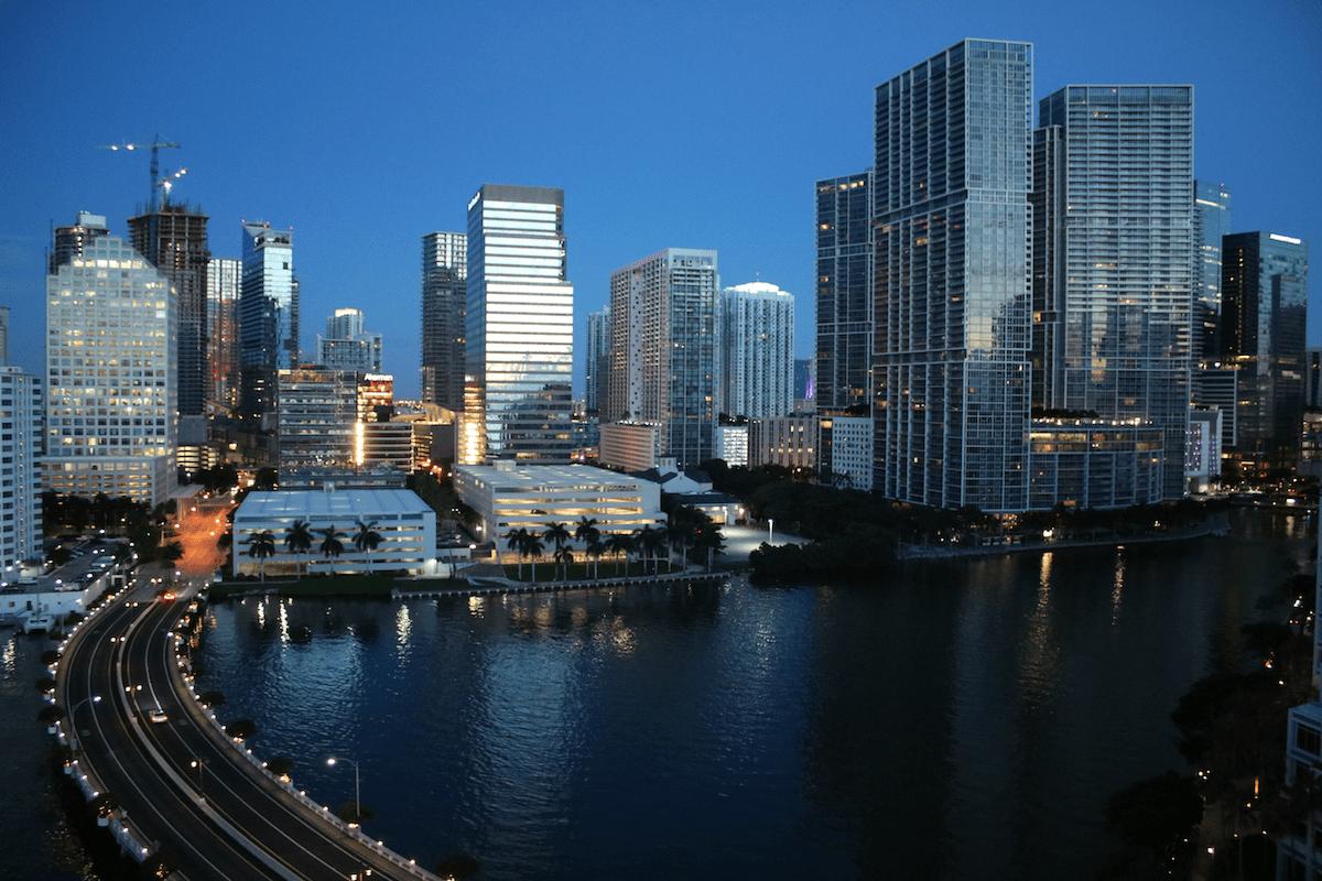 Downtown Miami at dawn