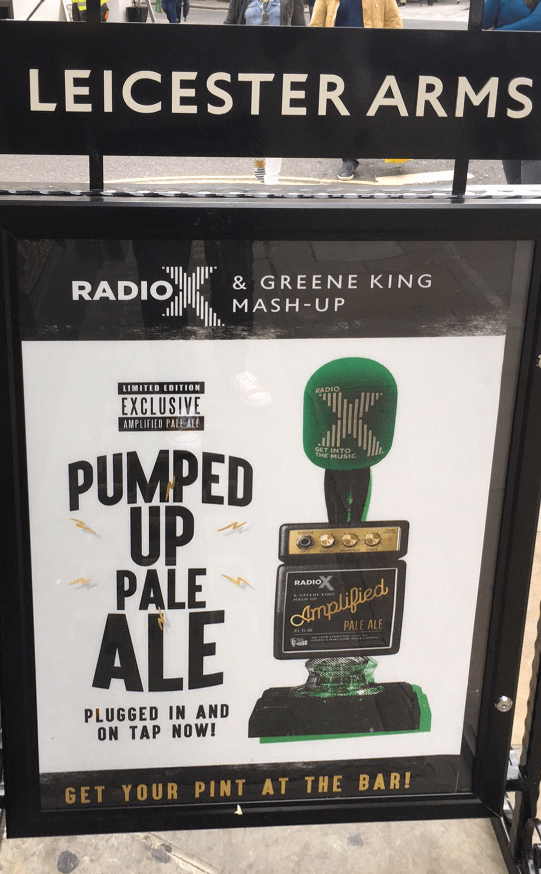 Radio X Beer at a pub