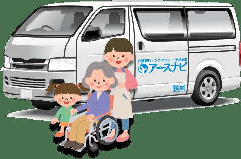 ケアタクシー<介護タクシー・福祉タクシー>