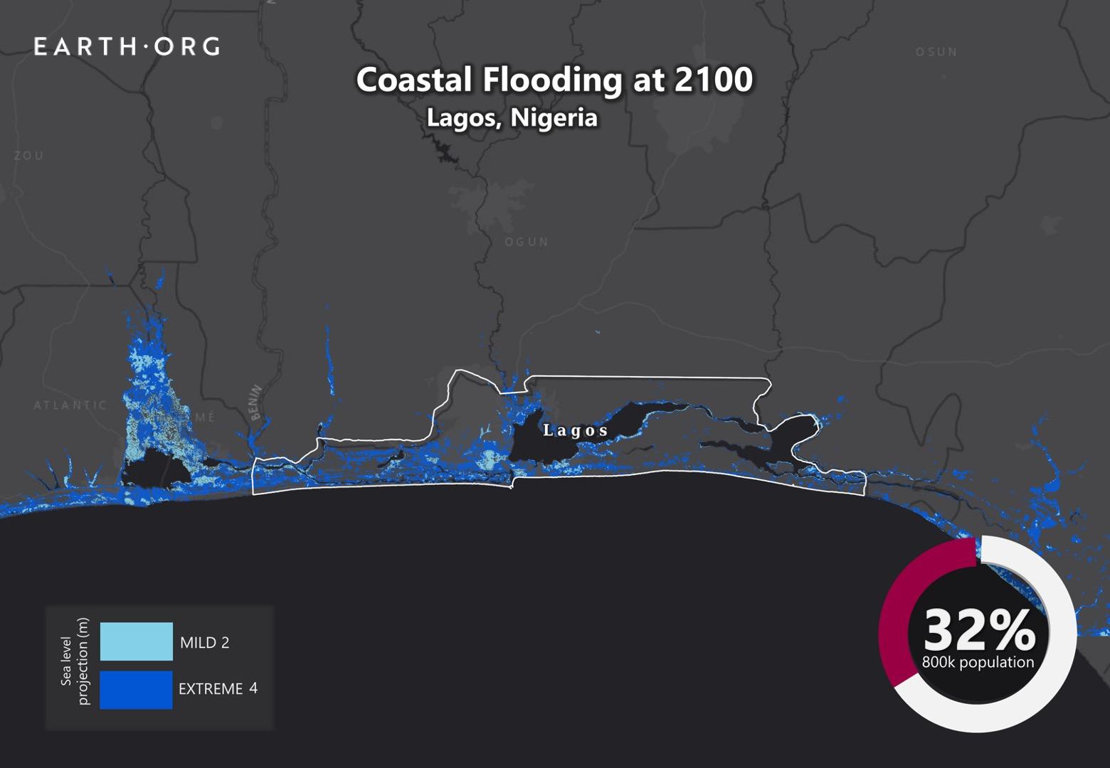 Future Sea Level Rise - Lagos | Earth.Org - Past | Present | Future