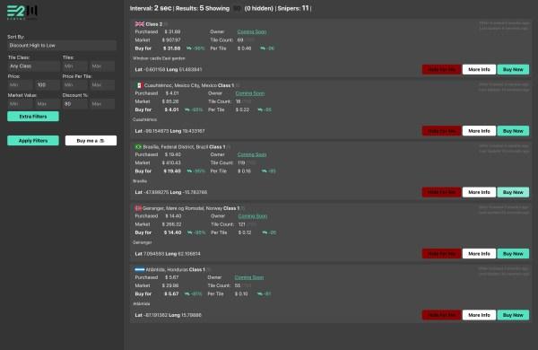 Earth2.market sniper premium - earth2italia.net