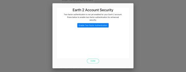 Earth 2 Account security - earth2italia.net