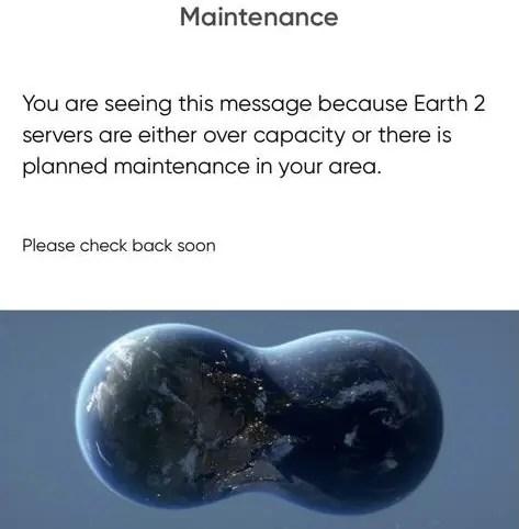 Earth2 maintenance - earth2italia.net