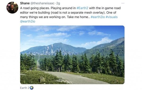 Le prime strade du Earth 2 - earth 2 Italia - earth2italia.net