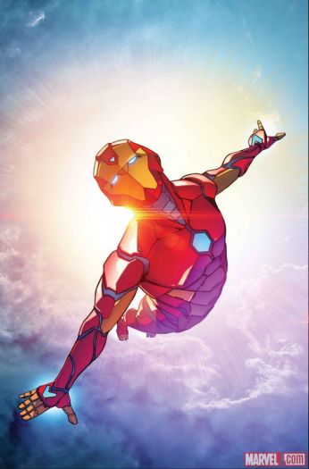 Invincible Iron Man (2016) #1 cover by Stefano Caselli