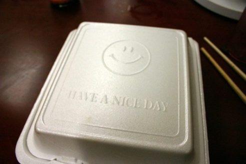 polystyrene take out box