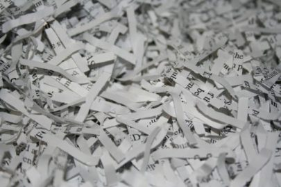 Oftentimes, paper mills won't accept shredded paper because of the difficulties it creates during the sorting process. Photo: Flickr/Peat Bakke