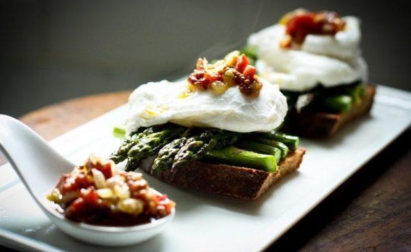 Asparagus & Poached Egg on Toast