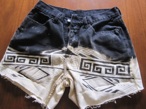 DIY Dip Dye Tribal Shorts