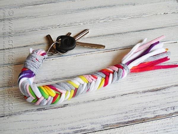 tshirt braided keychain