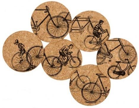 Corkology Cork Coasters - Antique Bikes