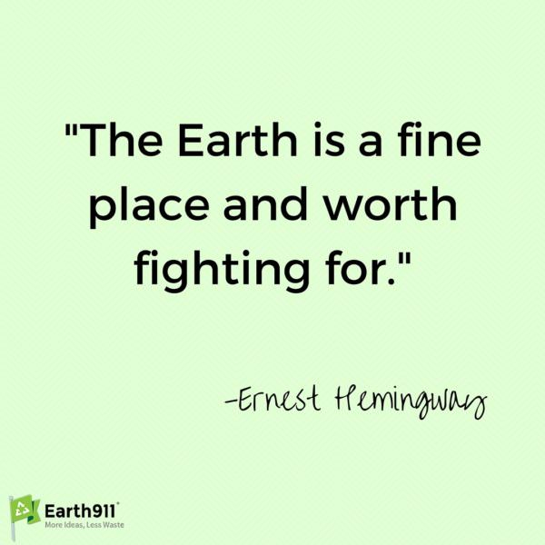 I love this eco quote from Ernest Hemingway