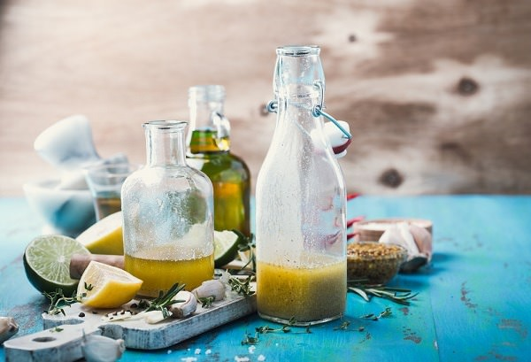 Make your own oil and vinegar dressing, perfect for drizzling on salads. Photo credit: Shutterstock.com