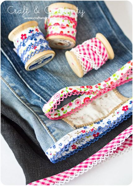 Cute cutoff jean ideas by Craft and Creativity