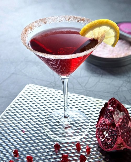 Stirrings Pomegranate Martini cocktail