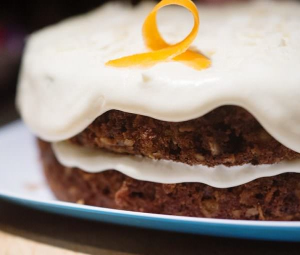 Carrot cake baked with clean renewable energy