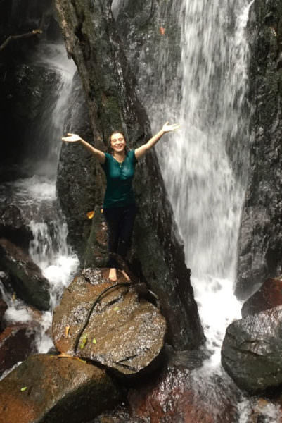 Dr. Kinari Webb in Indonesia's Gunung Palung National Park