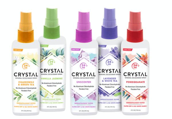 Crystal Mineral Deodorant Sprays