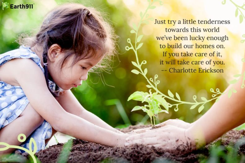 "Inspiration: ""Try a little tenderness towards this world ... it will take care of you."" --Charlotte Erickson"