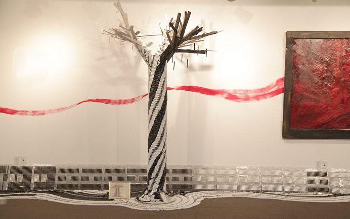 Artist Yennie Zhou uses vaping equipment for sculpture.