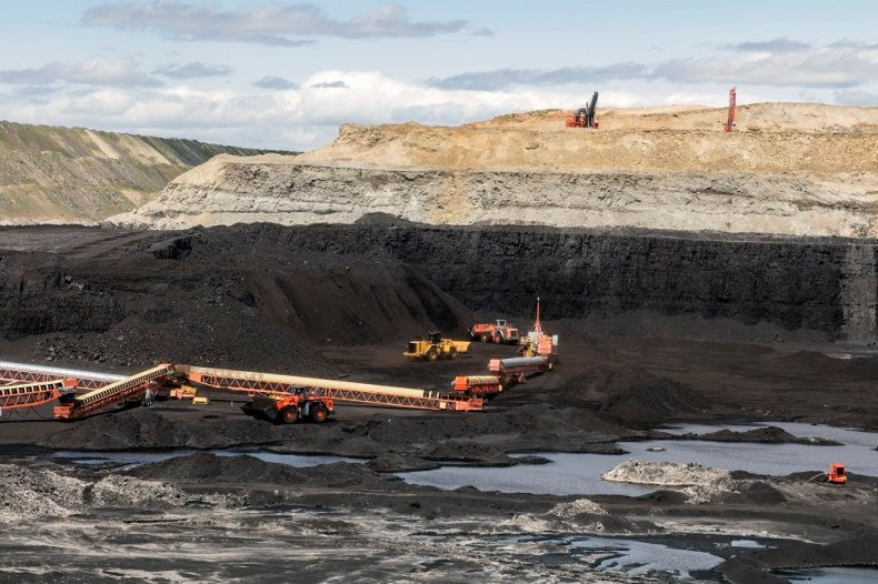 open-pit coal mine