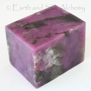 Lepidolite and beryl cube