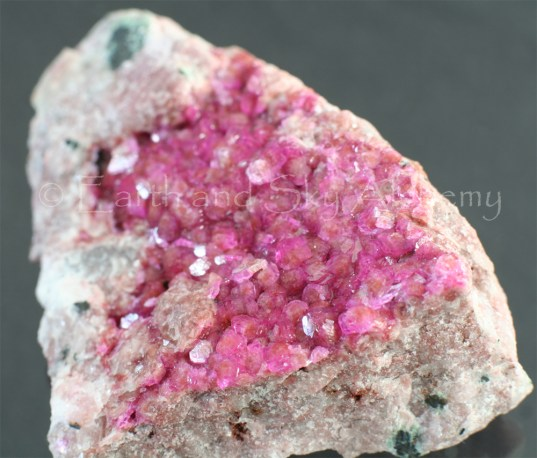 Pink calcite crystal cluster