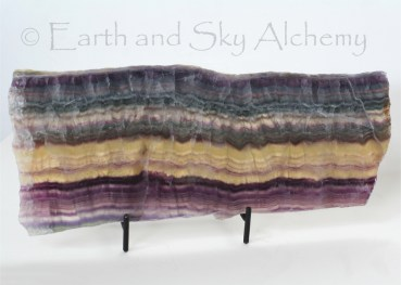 Rainbow fluorite slab