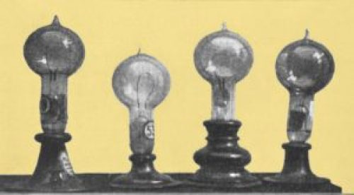 Thomas Edison's carbon filament lamps, early 1880s