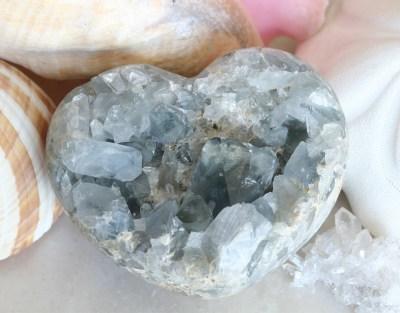 Celestite Geode Heart