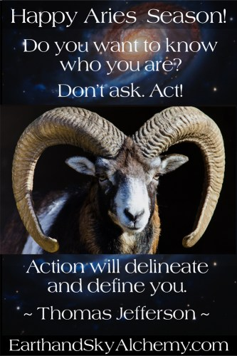 Aries Season Montage with Thomas Jefferson Quote