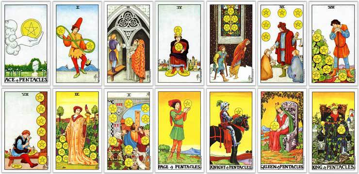 Suit of Pentacles Tarot Card Meaning | Tarot Angel & Goddess