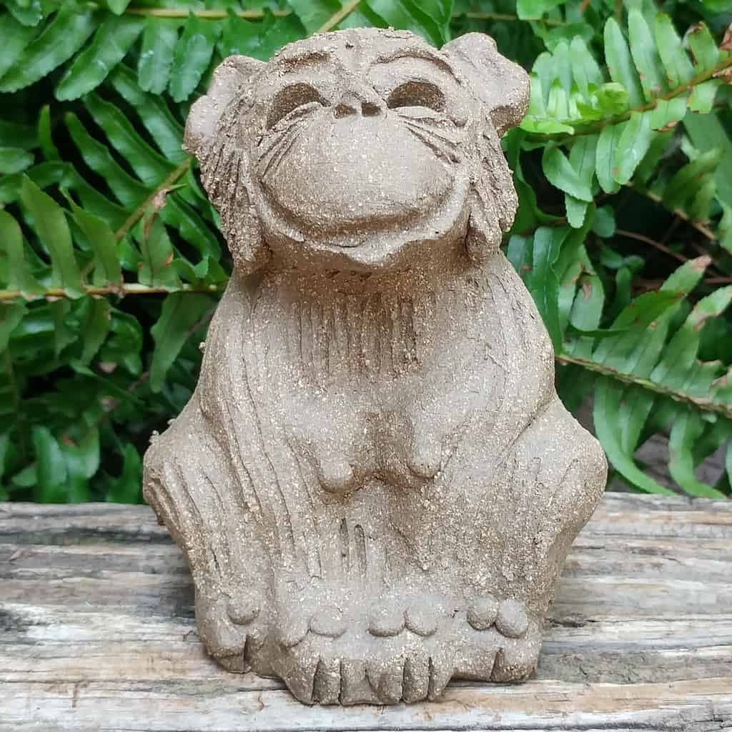 clay-small-monkey-sitting-legs-tucked-1024px-garden-sculpture-by-margaret-hudson-earth-arts-studio-0