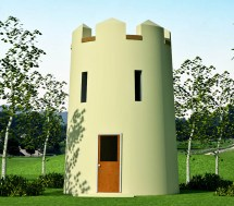 Castle Round Tower House Plans