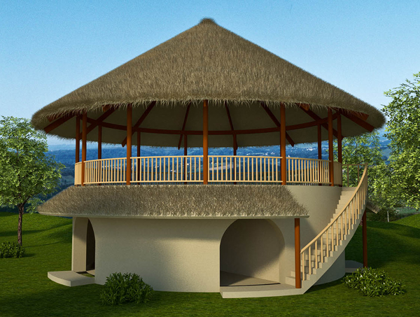 2 Bedroom Earthbag House Plans