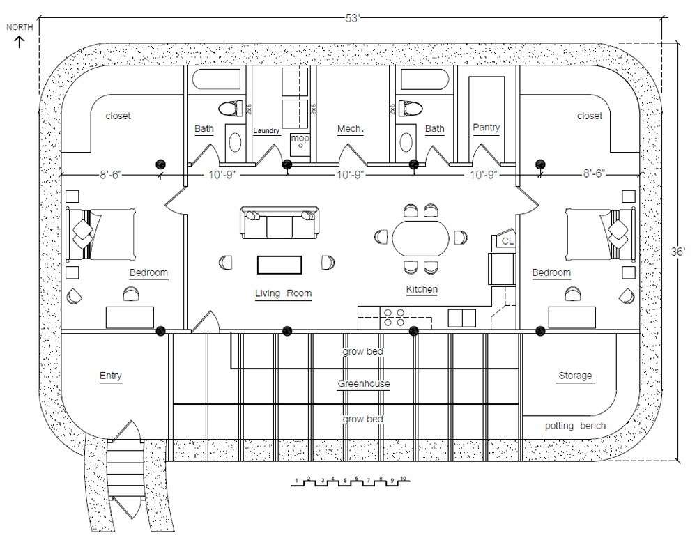 Underground Earthbag House Plans