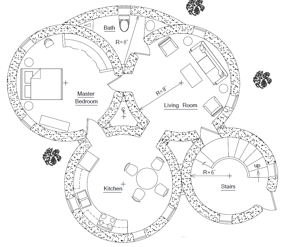 Best Kitchen Gallery: Roundhouse Plan Earthbag House Plans of Circular Home Plans on rachelxblog.com
