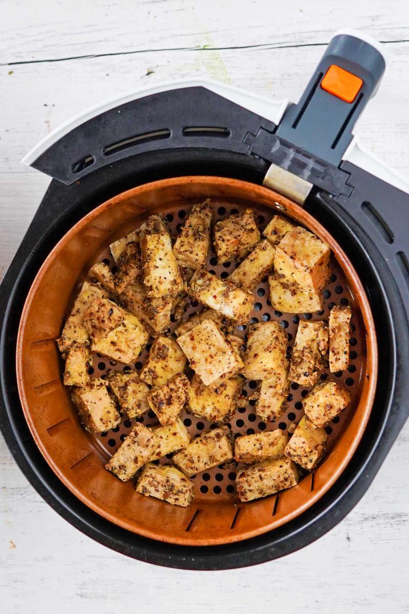 air fryer salt and pepper tofu